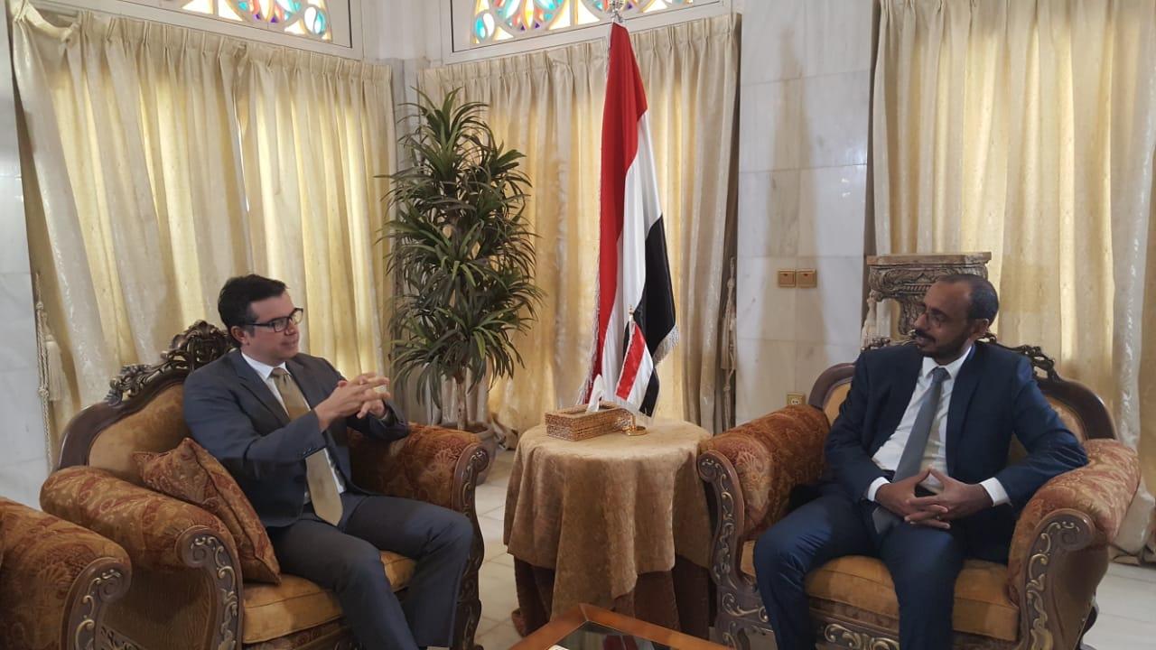 كفاين يبحث مع السفير التركي دعم القطاع السمكي في اليمن