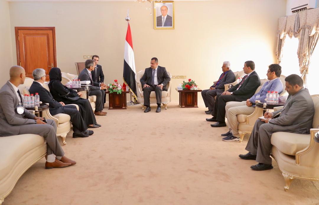 رئيس الوزراء يستقبل بعثة اللجنة الدولية للصليب الأحمر في اليمن