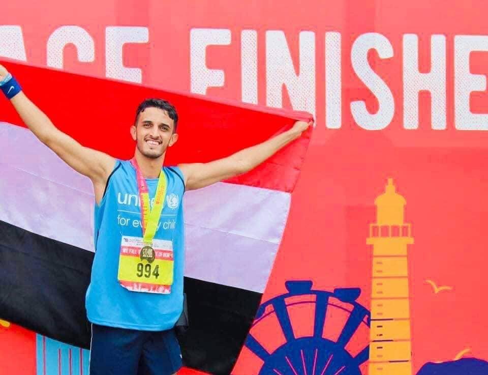 اللاعب اليمني خيري يحقق المركز 33 في ماراثون بيروت الدولي