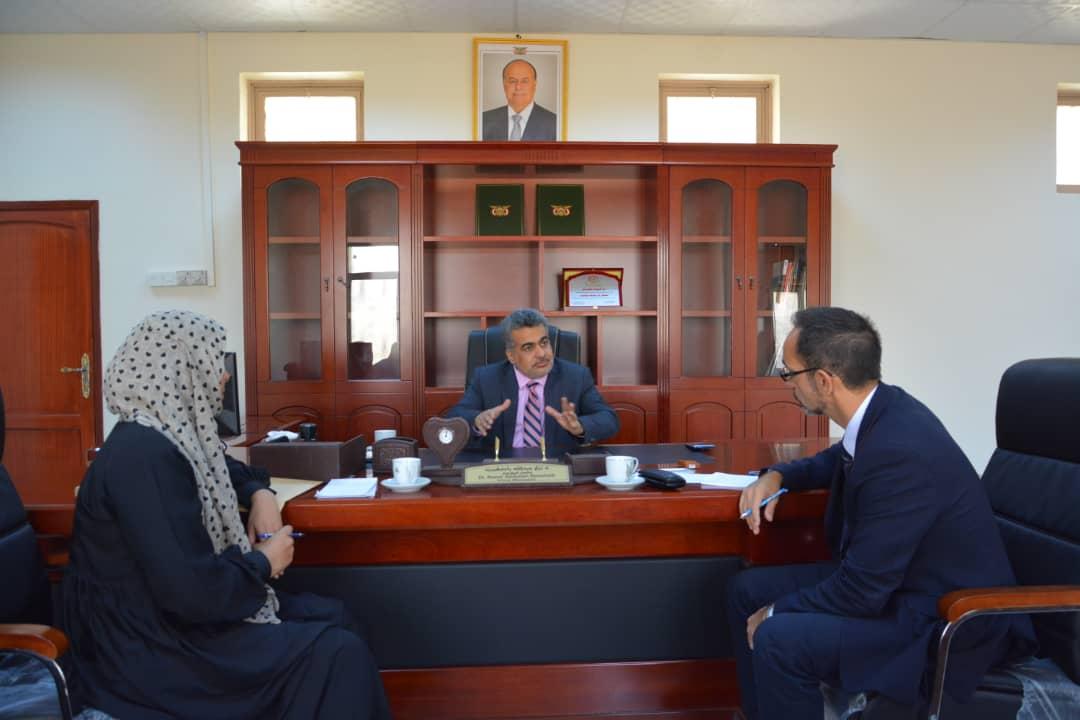 نائب وزير التخطيط يبحث مع منظمات دولية تنفيذ مشاريعها المختلفة