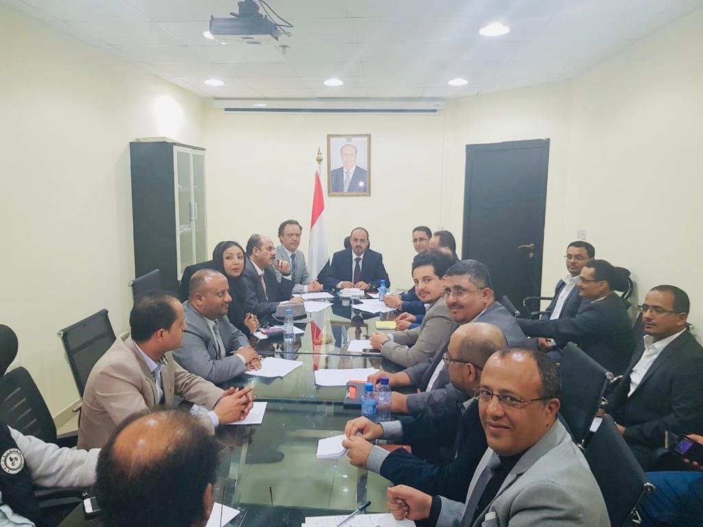 اجتماع برئاسة وزير الإعلام يناقش الخطط الإعلامية المستقبلية للوزارة