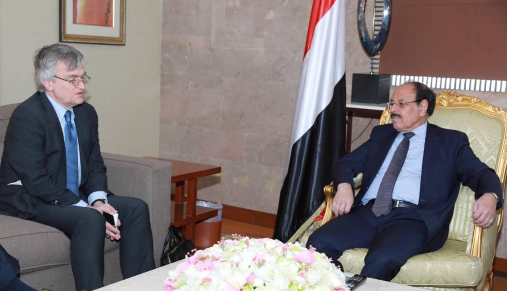 نائب رئيس الجمهورية يلتقي المبعوث السويدي الخاص للشرق الأوسط وشمال أفريقيا