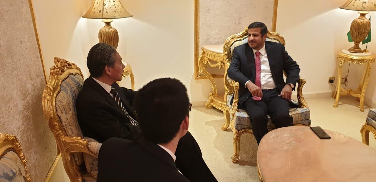 الشريف يناقش مع السفير الصيني مبادرة الحزام والطريق