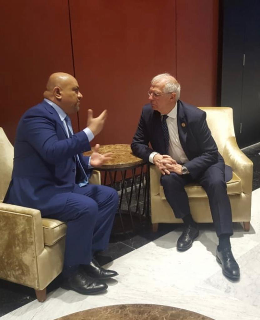 اليماني يلتقي وزير الخارجية والتعاون الاسباني