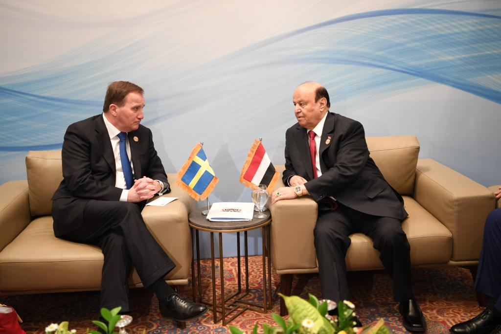 رئيس الجمهورية يشيد بالجهود السويدية لإحلال السلام في اليمن