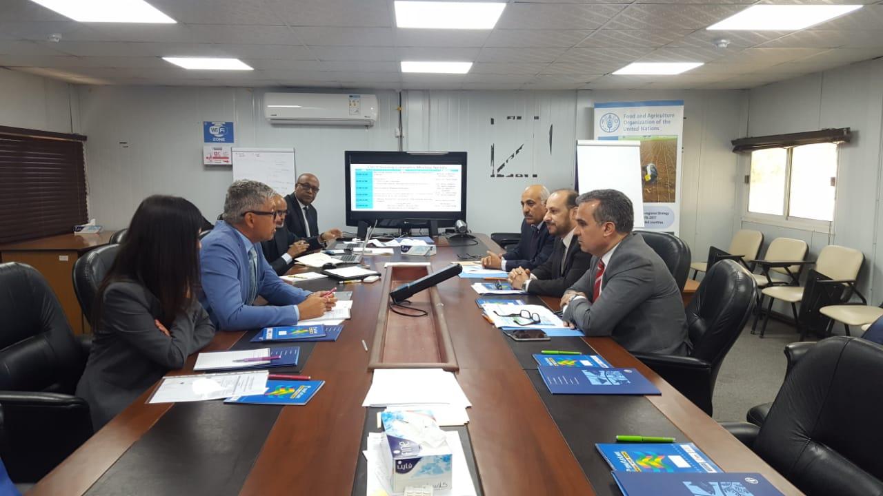 وزير التخطيط يترأس اجتماعاً بلجنة تسيير مشروع تعزيز نظم معلومات الأمن الغذائي