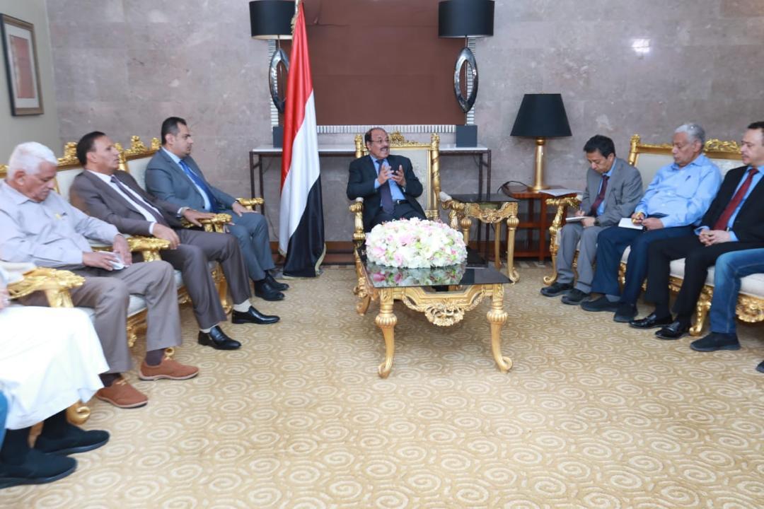 نائب رئيس الجمهورية يلتقي أعضاء التحالف الوطني