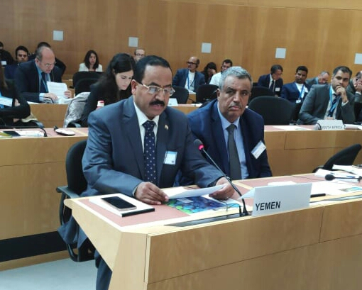 العقيلي يكشف في جنيف جرائم ألغام الحوثيين بحق اليمنيين